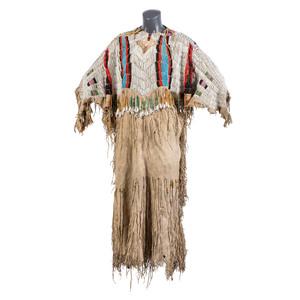 Nez Perce Pony Beaded Hide Dress