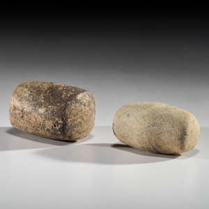 A Pair of Bannerstone Blanks, Largest 2-1/2 in.