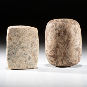 A Pair of Large Bannerstone Blanks, Largest 4-1/4 in.