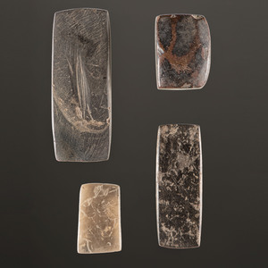 A Group of Hardstone Rectangular Tools, Largest 2-7/8 in.