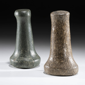 A Pair of Bell Pestles, Largest 6-1/2 in.
