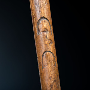 Northern Plains Spike Club, with Horse Track Decorations, From an Estate in Sinking Spring, Ohio