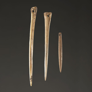 A Group of Bone Needles, Largest 6-1/8 in.