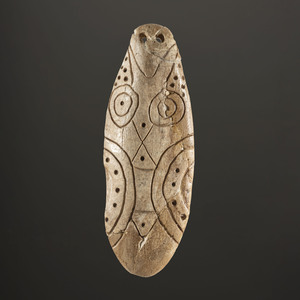 An Engraved Bone Pendant, 3-3/4 in.