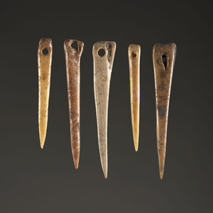A Group of Bone Needles, Largest 3-1/2 in.