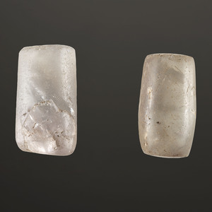A Pair of Undrilled Fluorite Beads, Length 1-1/4 in.
