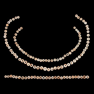 A Frame of Shell Disc Beads, Largest 1/2 in.