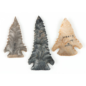 Three Pine Tree Points, Largest 2-3/4 in.