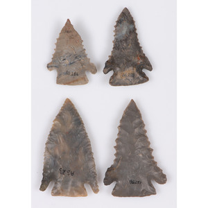 Four Pine Tree Points, Largest 2-1/4 in.
