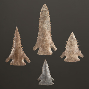 Four Pine Tree Points, Largest 3-1/4 in.
