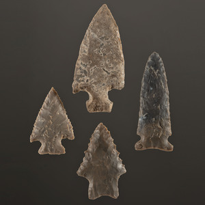 Four Archaic Points, Largest 2-3/4 in.