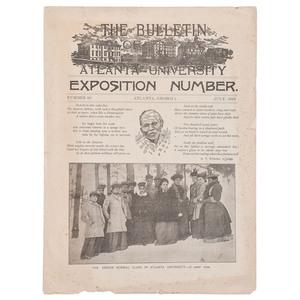 [AFRICAN AMERICANA]. The Bulletin of Atlanta University. No. 48. Atlanta, GA: University Printing Office, July 1893.