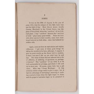 [AFRICAN AMERICANA -- SLAVERY & ABOLITION -- SLAVE NARRATIVE]. BROWN, B.W. Life in Slaveland. Burnley: Nuttall & Co., 1902.