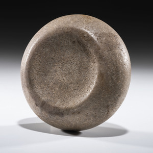 A Granite Cupped Discoidal, 4-1/2 in.