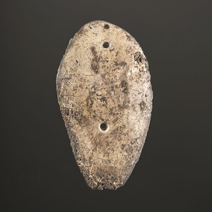 A Shell Sandal Sole Gorget, Length 6 in.