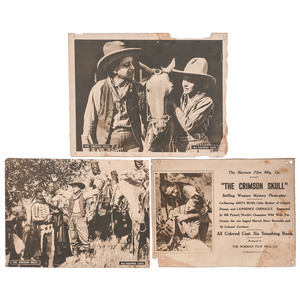 [FILM]. A group of 3 advertising sheets for The Crimson Skull, comprising: