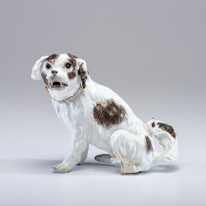 A Meissen Porcelain Dog