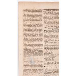 [SLAVERY & ABOLITION] -- [TURNER, Nat (1800-1831)]. Daily Evening Portland Advertiser. Vol. I, No. 205. Portland, ME: J. & W.E. Edwards, 30 August 1831.