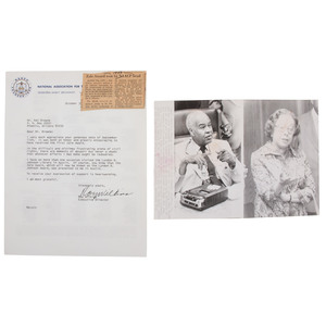 [NAACP]. WILKINS, Roy (1901-1981). Typed Letter Signed (