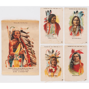 [AMERICAN INDIAN]. Cigarette silks with American Indian subjects.
