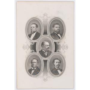 [AFRICAN AMERICANA] -- [POLITICS]. WELLSTOOD, William (1819-1900), engraver. First African American legislators. New York: [ca 1883].