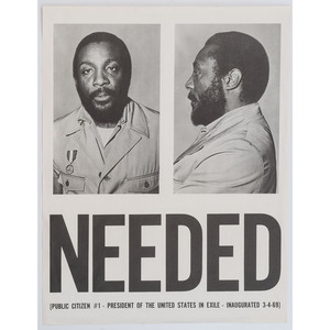 [AFRICAN AMERICANA] -- [GREGORY, DICK (1932-2017)]. Needed / Public Citizen #1. N.p., [1969].