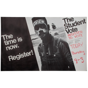 [CIVIL RIGHTS]. HERRON, Matt, photographer. The Time is Now. Register! Jackson, MS: The Student Vote, [ca 1972].