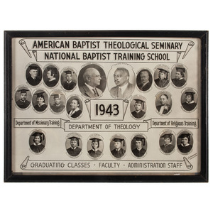 [AFRICAN AMERICANA] -- [RELIGION]. American Baptist Theological Seminary, National Baptist Training School. Nashville, TN: J.R. Anderson, 1943.