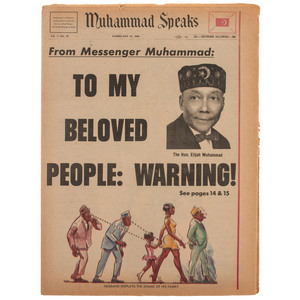 [NATION OF ISLAM]. Muhammad Speaks. Vol. 7, No. 22. 16 February 1968.