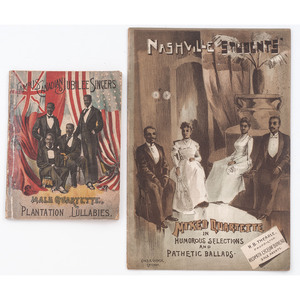 [AFRICAN AMERICANA - MUSIC]. A group of 3 pamphlets and promotionals for African American singing groups, comprising: