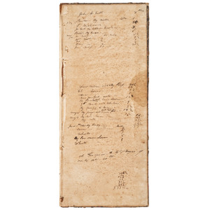 [SLAVERY & ABOLITION]. Ledger Documenting Bequeathment of Enslaved Peoples, ca 1839-1840.