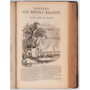 Harper's New Monthly Magazine. Vol. XVI. December 1857 to May 1858. New York: Harper & Brothers, 1858.