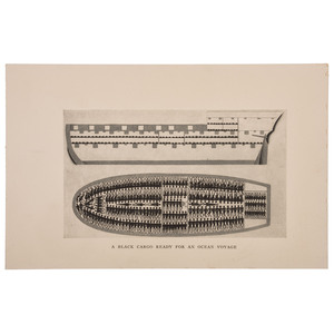 [SLAVERY & ABOLITION]. Two prints, including Brookes Cargo Plan.