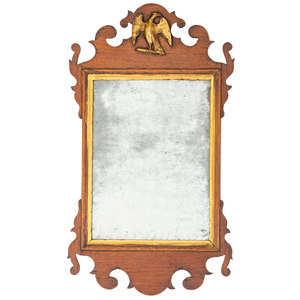 A Chippendale Walnut Mirror