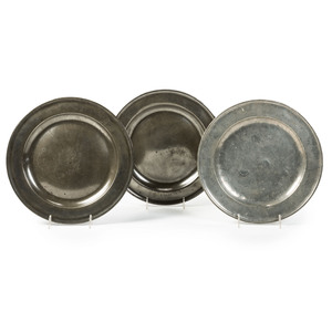 Three Pewter Chargers