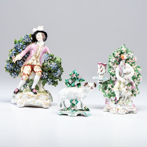 Three Derby-style Porcelain Figures
