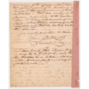 [SLAVERY & ABOLITION]. Correspondence and clipped signatures, incl. Maria Weston CHAPMAN and Gerritt SMITH.