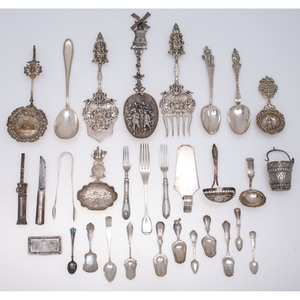 A Group of Dutch Silver and Other European Flatware