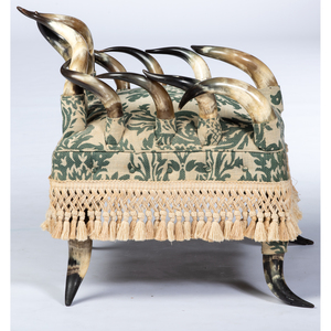 A Late Victorian Steer Horn Armchair, Evansville, Indiana, 1884