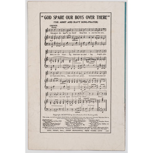 [WORLD WAR I] -- [MUSIC]. A group of 5 pieces of sheet music, comprising: