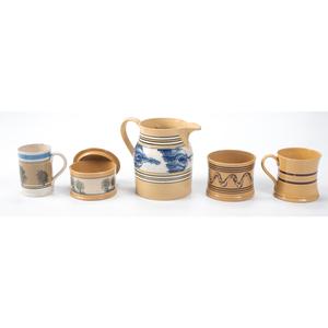Five Mochaware Vessels