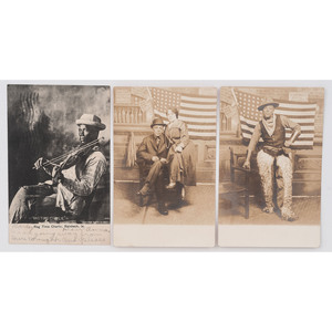 [AFRICAN AMERICANA] -- [REAL PHOTO POSTCARDS]. Group of 3 RPPCs of African American subjects, comprising:
