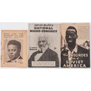 [AFRICAN AMERICANA] -- [POLITICS]. Three political imprints, comprising: