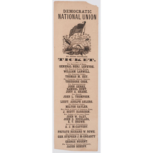 [AFRICAN AMERICANA] -- [RECONSTRUCTION]. No Negro Suffrage Ticket. [Ohio]: n.p., [ca 1866].