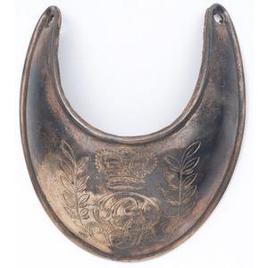 English Engraved Gorget