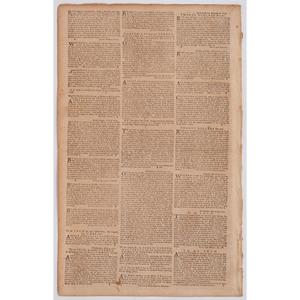 [SLAVERY & ABOLITION]. The Pennsylvania Gazette. No. 2209. Philadelphia, PA: David Hall and William Sellers, 25 April 1771.
