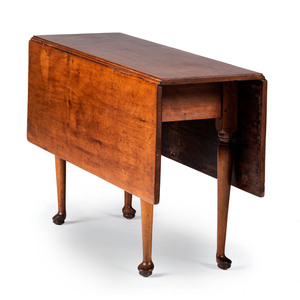 A Queen Anne Cherrywood Drop-Leaf Table, Likely New England, 18th Century with alteration