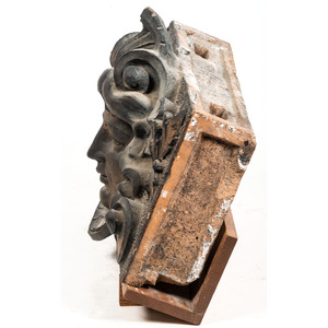 An Art Nouveau Terracotta Relief Carved Tile