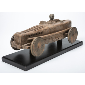A Carved Wood Stock Car, Circa 1950