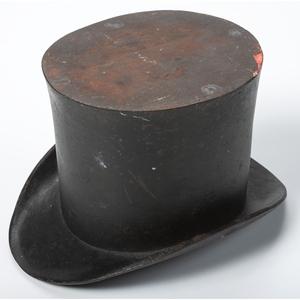 A Cast Iron Top Hat Spittoon